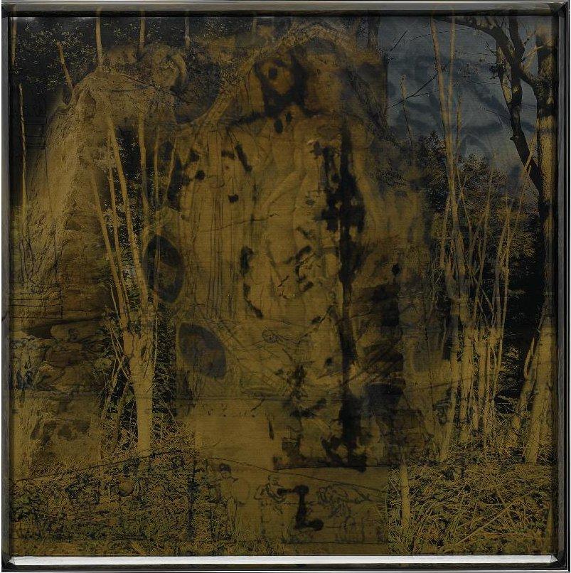 "Paola Babini, ""Oltre il paesaggio"", double-sided plexiglass box and photograph, 80cmx80cm, 2014"